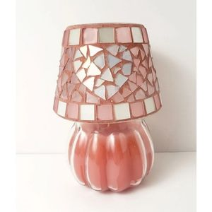 Home Interior | Pink Heart Candle Topper